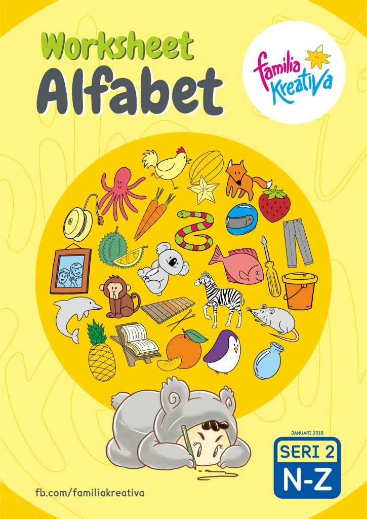 Printable Gratis – Worksheet Alfabet Seri 2
